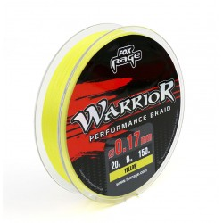 Fox Rage Warrior Performance Braid Yellow 0,08 mm