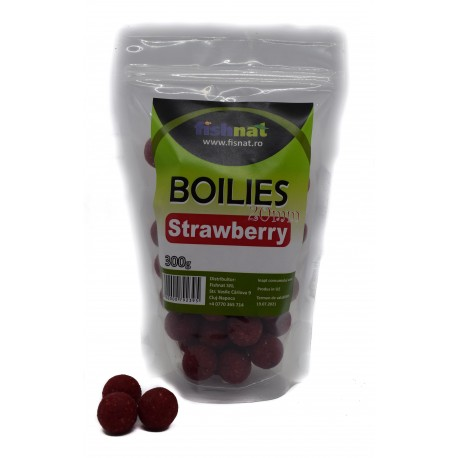 Fishnat Boilies Strawberry 20 mm 300 gr